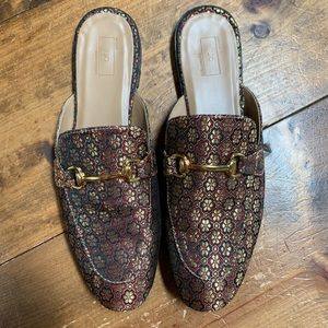Men's Urban Outfitters jacquard mule